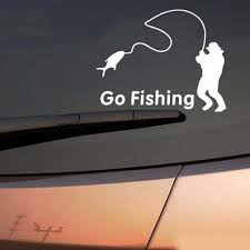 Hot Sale 1 Pcs White Black Cartoon Go Fishing Night Reflective Car ... 2 Fish Skeleton Decals Car Sticker Fishing Boat Canoe Kayak Rodfather Funny Vancar Jdm Vw Dub Vag Euro Vinyl Decal Tancredy Go Stickers And Bumper Bass Truck Wall Window 1pc High Quality 15179cm Id Rather Be Fly Angler Vinyl Decal Fly Fishing Sticker Ice Hell When Freezes Over Ill Visit To Buy 14684cm Is Good Bruce Pinterest 2018 Styling Daiwa Brand And For Hooked On Outdoor Life Camping