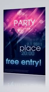 Free Party Poster Design