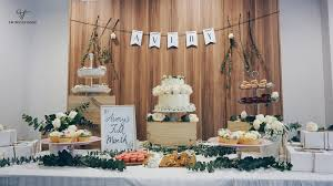 Rustic Themed Dessert Table For A First Month Celebration