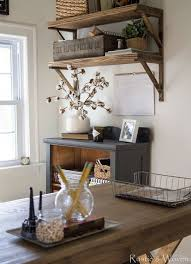 Rustic Wood Shelves For A Home Office