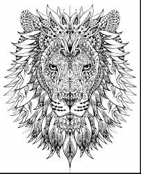 Excellent Lion Adult Coloring Pages Printables With Challenging And Of Alphabet