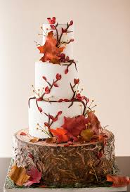 Brides Beautiful Wedding Cakes For Every Season Rustic Fall Inspired