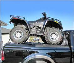 Diamondback Bed Cover by Rear Loading Diamondback Atv Carrier With Low Profile Cab Guard On