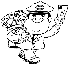 Mail Carrier Clipart Black And White