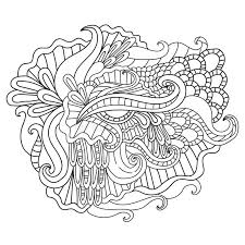 Download Coloring Pages For AdultsDecorative Hand Drawn Doodle Nature Ornamental Curl Vector Sketchy Pattern