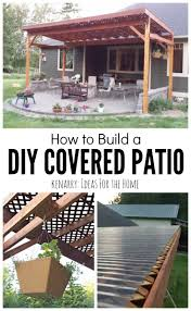 Beautiful Idea For Your Backyard How To Build A Diy Covered Patio ... Houses Comforts Pillows Candles Sofa Grass Light Pool Windows Charming Your Backyard For Shade Sails To Unique Sun Shades Patio Ideas Door Outdoor Attractive Privacy Room Design Amazing Black Horizontal Blind Wooden Glass Image With Fascating Diy Awning Wonderful Yard Canopy Living Room Stunning Cozy Living Sliding Backyards Outstanding Blinds Uk Ways To Bring Or Bamboo Blinds Dollar Curtains External Alinium Shutters Porch