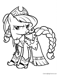 My Little Pony Applejack 01 Coloring Page
