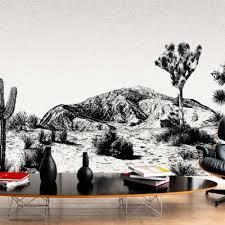 arizona panorama tapete schwarz weiß