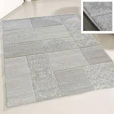 160x230 cm teppich wohnzimmer modern beige karo muster konturenschnitt my7425