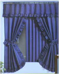 amazing blue curtain valance blue and yellow valances shower