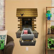 3D Minecraft Style Wall Decal Poster Sticker Room Bedroom Decor Video Game 8