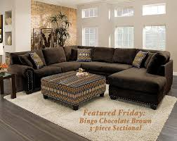 American Freight Sofa Beds by Featured Friday Bingo Chocolate Brown 3 Piece Sectional Sofa