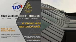 100 5 Architects ASEAN Registry Orientation