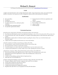 Michael Bennetts Updated Clerk 3 Resume 2