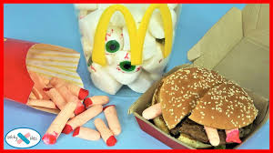 Bad Halloween Candy List by What U0027s In My Mcdonald U0027s Halloween Finger Fries And Eyeballs Drink
