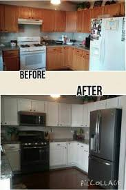 Rustoleum Cabinet Refinishing Kit From Home Depot by Awesome Before And After Diy Kitchen Cabinet Makeover What A