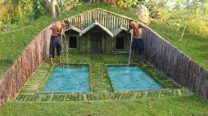 100 Photos Of Pool Houses Build House Under The Wood Roots Add Two Swimming