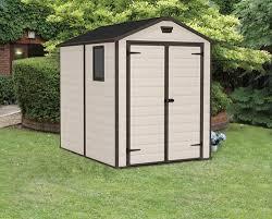 keter manor 6 x 8 shed at menards