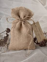 Custom Listing Rustic Wedding Favor Bag Birch Bark Burlap Thank You Gift