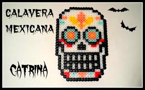 Halloween Hama Bead Patterns by Halloween Calavera Mexicana