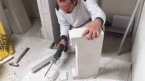 teil1 bad trennwand aus ytong dusche nische für shoo zum überfliesen