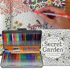 AI Friedman 52 Gel Pen Set W Secret Garden Coloring Book Amazon Dp B013XHBIU2 Refcm Sw R Pi WMg4vb02NVAMT
