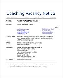 10 Coach Resume Templates Pdf Doc Free Premium Rh Template Net College Baseball