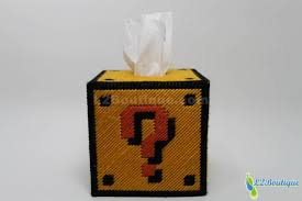 Mario Question Mark Block Lamp by Mario Question Mark Block Tissue Box Cover