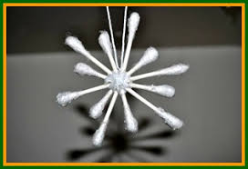 Q Tip Snowflakes The Supplies Are Simple