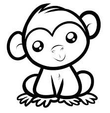 Surprising Design Ideas Baboon Animal Coloring Pages Baby Monkey Template