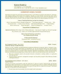 Resume Skills Examples For Teachers Elementary Teacher Resume Sample
