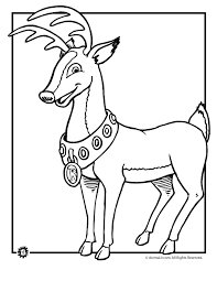 Deer Coloring Pages Rudolph The Red Nosed Reindeer Page Animal Jr