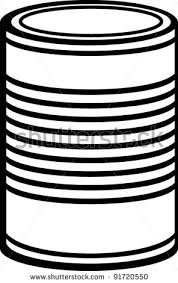 canned food clip art black and white 1