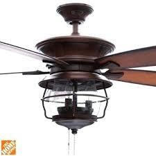 Ceiling Fan Indoor Outdoor Aged Walnut Farmhouse Light Kit
