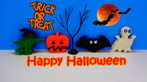Thomas The Train Halloween Stencils by Play Doh Halloween Surprise Learn How To Spell Pumpkin Bat Ghost