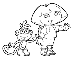 Printable Coloring Pages Dora And Boots