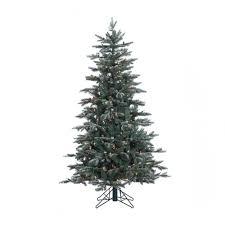 Vickerman Pre Lit Flocked Christmas Tree by Vickerman Crystal Balsam Frost Slim Pre Lit Christmas Tree Hayneedle