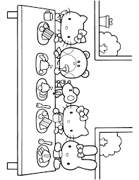Online For Kid Hello Kitty Birthday Coloring Pages 53 On Picture Page With