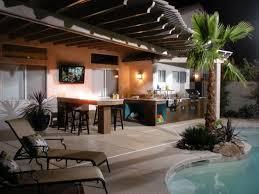 Full Size Of Kitchenmodern Outdoor Kitchen Ideas Grey Stone Bricking Walls Orange Pendant Bar Large