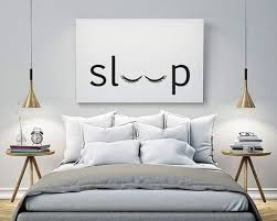 sleep bedroom printable poster typography print black