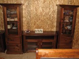 Mennonite Shaker Style Custom Built Rustic Pine Stereo Cabinets