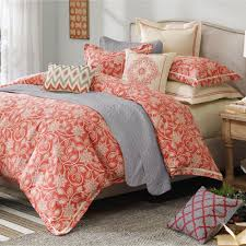 Coral Colored Bedding by Articles With Coral Color King Size Bedding Tag Coral Color