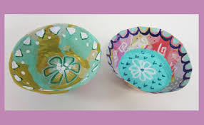 Make Tissue Paper Mache Bowls