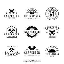 Nine Logos For Carpentry Black And White