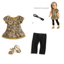 Amazoncom American Girl Truly Me Golden Sparkle Outfit For 18
