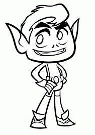 Teen Titans Go Coloring Pages Beast Boy