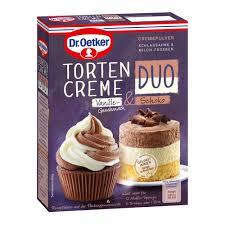 tortencreme duo vanille geschmack schoko