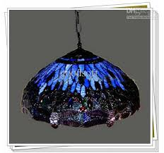 Tiffany Style Dragonfly Stained Glass Pendant Light Living Room Dining Chandelier