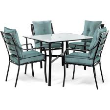 100 Dining Chairs For Obese Hanover Lavallette Black Steel 5Piece Outdoor Set With Ocean