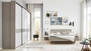 interliving schlafzimmer serie 1009 schwebetürenschrank 221 mit extras weiß kieselgrau drei türen breite ca 260